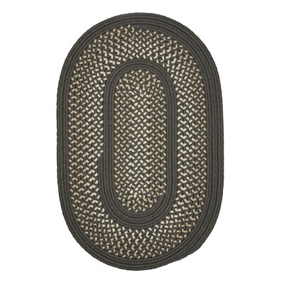 Shannon Hand-Woven Gray Indoor/Outdoor Area Rug Rug Size: Oval Runner 2 x 8
