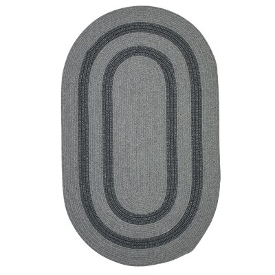 Westfield Hand-Woven Gray Area Rug Rug Size: Oval 10 x 13
