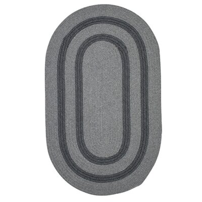 Westfield Hand-Woven Gray Area Rug Rug Size: Oval 12 x 15