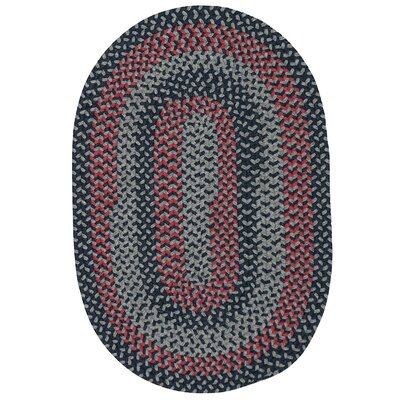 Charleston Hand-Woven Gray/Red Area Rug Rug Size: Oval Runner 2 x 10