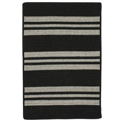 Neponset Hand-Woven Black Indoor/Outdoor Area Rug Rug Size: 8 x 10
