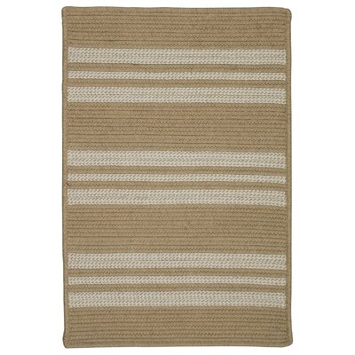 Neponset Hand-Woven Beige Indoor/Outdoor Area Rug Rug Size: 5 x 7