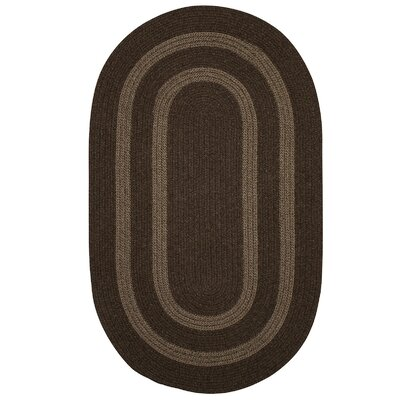 Westfield Hand-Woven Wool Brown Area Rug Rug Size: Oval 7 x 9
