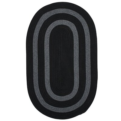 Westfield Hand-Woven Black Area Rug Rug Size: Oval Runner 2 x 10