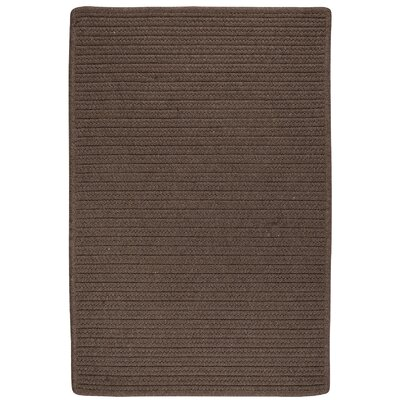 Oakland Hand-Woven Brown Indoor/Outdoor Area Rug Rug Size: 6 x 9
