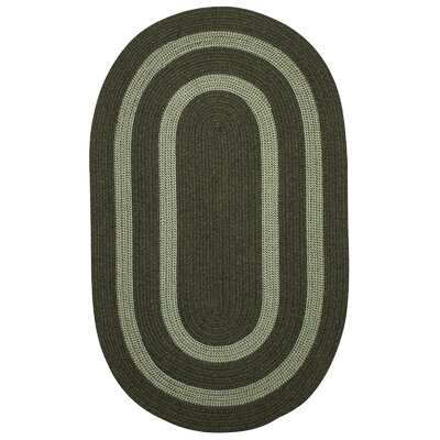 Westfield Hand-Woven Green Area Rug Rug Size: Oval 10 x 13