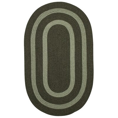 Westfield Hand-Woven Green Area Rug Rug Size: Oval 7 x 9