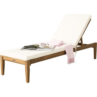 Falconer Chaise Lounge Finish: Teak Brown/Beige