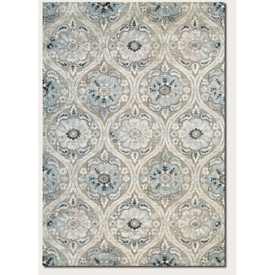 Walshville Greige/Antique Cream Area Rug Rug Size: 53 x 76
