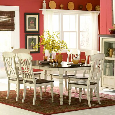 Scottville Extenable Dining Table Base Finish: White