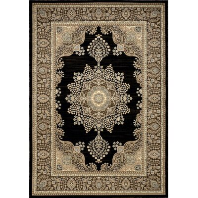 Bluegrass Black/Brown Area Rug Rug Size: 52 x 76