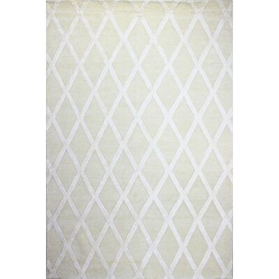 Summerset Hand-Tufted Ivory Area Rug Rug Size: 86 x 116