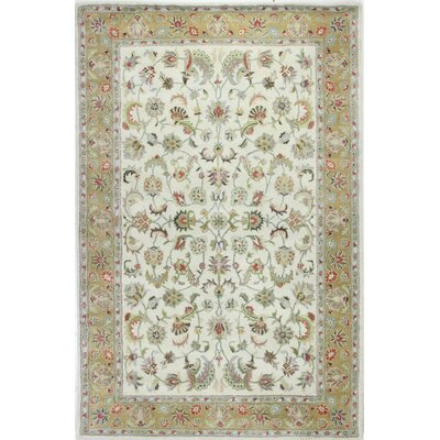 Palatine Hand-Tufted Ivory Area Rug Rug Size: Rectangle 56 x 86