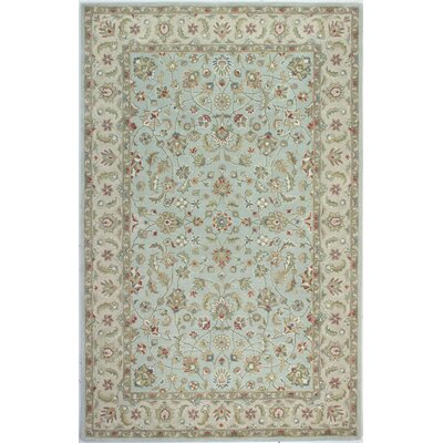 Palatine Hand-Tufted Light Blue Area Rug Rug Size: Rectangle 79 x 99