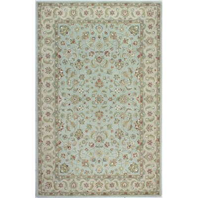 Palatine Hand-Tufted Light Blue Area Rug Rug Size: 79 x 99