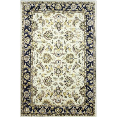 Palatine Hand-Tufted Ivory/Navy Area Rug Rug Size: Rectangle 56 x 86