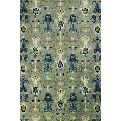 Irvington Hand-Tufted Slate Area Rug Rug Size: Rectangle 5 x 76