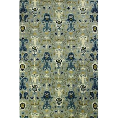 Irvington Hand-Tufted Slate Area Rug Rug Size: 86 x 116
