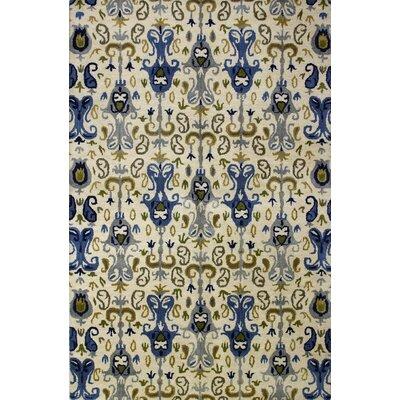 Irvington Hand-Tufted Ivory Area Rug Rug Size: 76 x 96