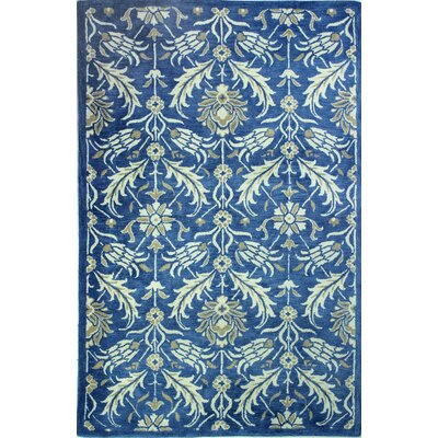 Crainville Hand-Tufted Denim Area Rug Rug Size: 86 x 116
