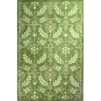Crainville Hand-Tufted Light Green Area Rug Rug Size: 86 x 116