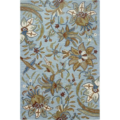 Kirkland Hand-Tufted Light Blue Area Rug Rug Size: 36 x 56