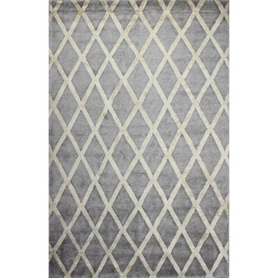 Summerset Hand-Tufted Pewter Area Rug Rug Size: Rectangle 86 x 116