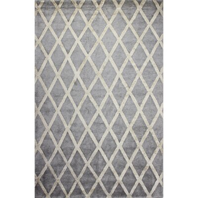 Summerset Hand-Tufted Pewter Area Rug Rug Size: 86 x 116