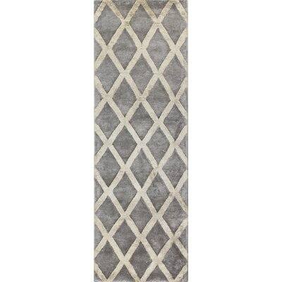 Summerset Hand-Tufted Pewter Area Rug Rug Size: Runner 26 x 8