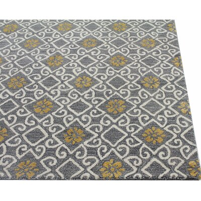 Danforth Hand-Tufted Grey Area Rug Rug Size: Rectangle 56 x 86