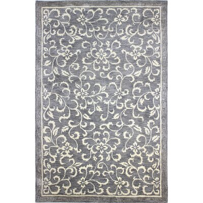 Danforth Hand-Tufted Grey Area Rug Rug Size: 56 x 86