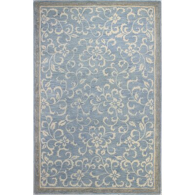 Danforth Hand-Tufted Light Blue Area Rug Rug Size: 56 x 86
