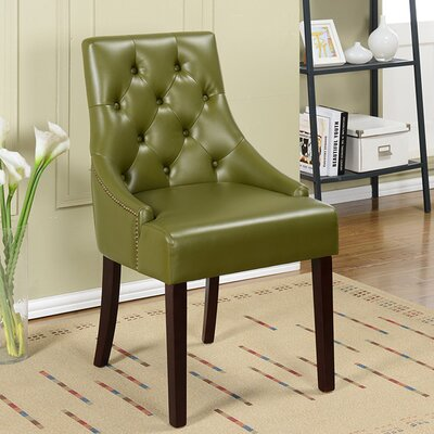 Cicero Side Chair Upholstery: Hunter Green