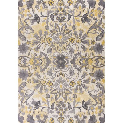 Boyer Ivory Area Rug Rug Size: Rectangle 53 x 77
