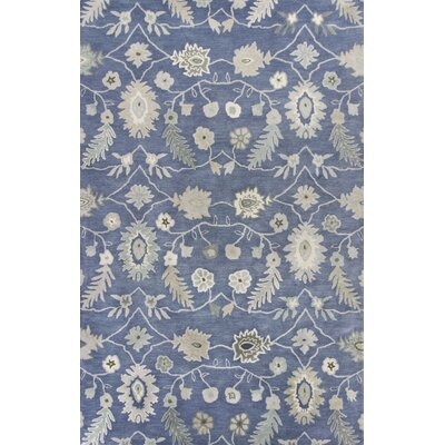 Madison Hand-Tufted Azure Area Rug Rug Size: 5 x 8