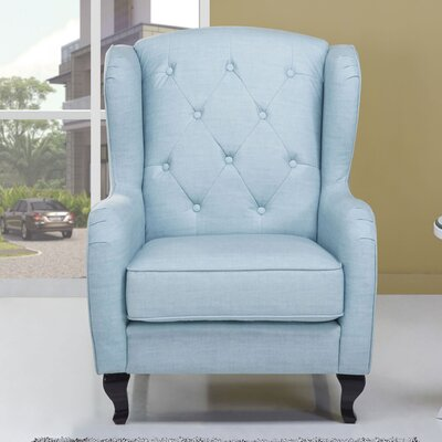 Carrow Armchair Color: Sky