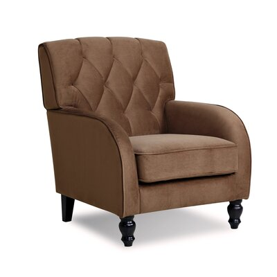 Daughtrey Tufted Back Armchair Color: Coffee