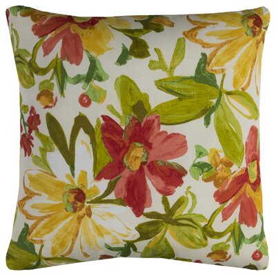 Albin Prefilled Indoor/Outdoor Throw Pillow Color: Red/Green