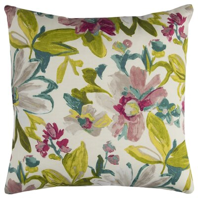 Albin Prefilled Indoor/Outdoor Throw Pillow Color: White/Green