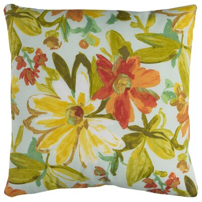 Albin Prefilled Indoor/Outdoor Throw Pillow Color: Cream/Green