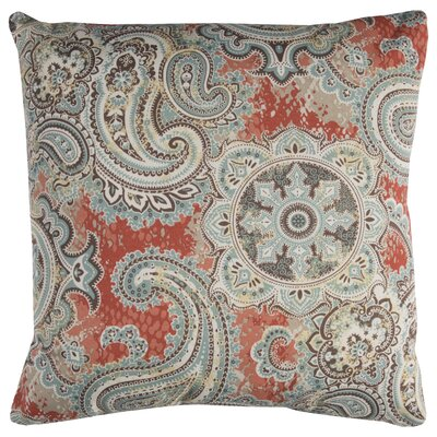 Albia Prefilled Indoor/Outdoor Throw Pillow Color: Orange/Blue