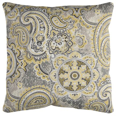Albia Prefilled Indoor/Outdoor Throw Pillow Color: Yellow/Gray