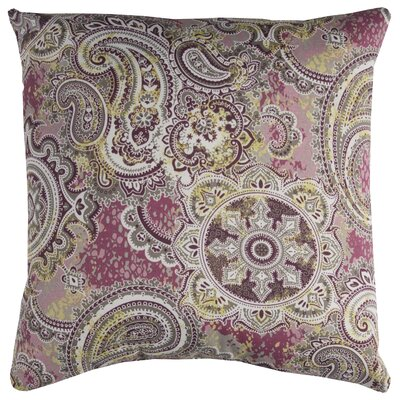 Albia Prefilled Indoor/Outdoor Throw Pillow Color: Purple/Gray