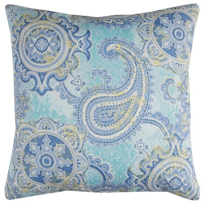 Albia Prefilled Indoor/Outdoor Throw Pillow Color: Blue/Yellow