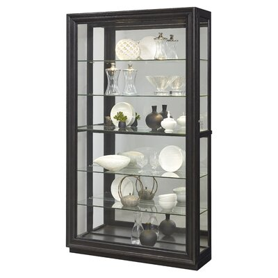 Albrightsville Lighted Corner Curio Cabinet