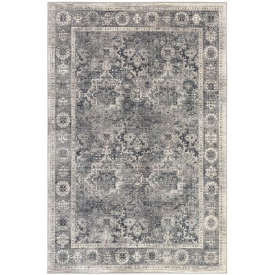 Rutland Gray Area Rug Rug Size: Rectangle 53 x 710