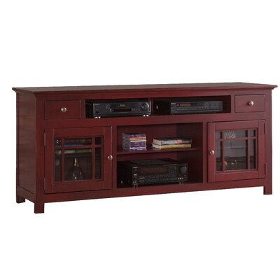 Julee 74 TV Stand Color: Red