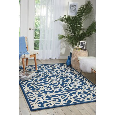 Hockenberry Hand-Woven Wool Navy/Ivory Area Rug Rug Size: Runner 23 76