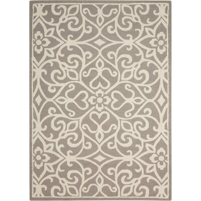 Hockenberry Hand-Woven Taupe/Ivory Area Rug Rug Size: Rectangle 5 x 7