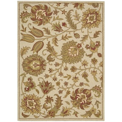 Dayton Ivory Hand-Tufted Area Rug Rug Size: Rectangle 7'3